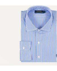 Ralph Lauren | Bengal Stripe Dress Shirt Blue And White | Lyst