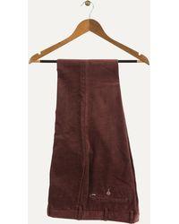 Ralph Lauren | Slim Fit Luxury Stretch Cords Burgundy | Lyst