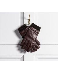 Mulberry - Smooth Nappa Rivet Gloves Brown - Lyst
