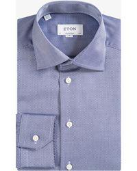Eton of Sweden - Contemporary Fit Basket Weave Shirt Blue - Lyst