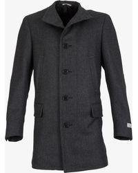 Canali Water Resistant Wool Coat Gray