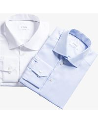 Eton of Sweden - Exclusive Contemporary Twin Shirt Set White/blue - Lyst