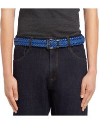 Prada - Reversible Saffiano Leather And Leather Belt - Lyst