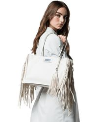 Prada - Etiquette Fringed Bag - Lyst