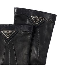 Prada - Nappa Leather Gloves - Lyst