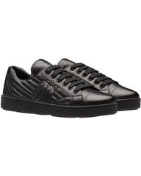 f82a6cb2d9 Prada - Nappa Leather Sneakers - Lyst