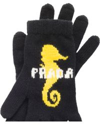 Prada - Wool And Cashmere Gloves - Lyst