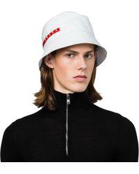 8128bef75a2 Lyst - Prada Technical Fabric Cap in Black for Men