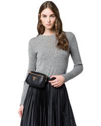 Prada - Calf Leather Belt Bag - Lyst
