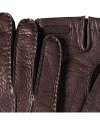 Prada - Deer Leather Gloves - Lyst