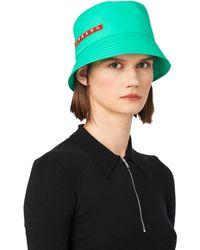 923e1074 Prada - Technical Fabric Cap - Lyst