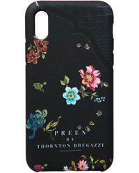 Preen By Thornton Bregazzi - Iphone Case Black Woven Flower - Lyst