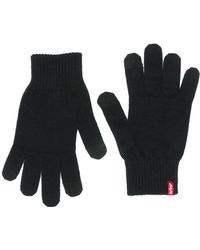 d86522bccb57c Kenneth Cole Leather Touch-screen Gloves in Black for Men - Lyst