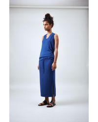 Pringle of Scotland - Drawstring Skirt In Classic Blue - Lyst