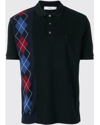 Pringle of Scotland - Argyle Insert Polo Shirt In Black - Lyst