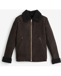 aee2e629ef0d Private White V.c. - The Deluxe Shearling Flight Jacket - Lyst