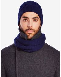 Private White V.c. - Ribbed Cashmere Beanie Hat - Lyst