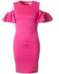 Ted Baker - Cold Shoulder Fitted Dress - Lyst