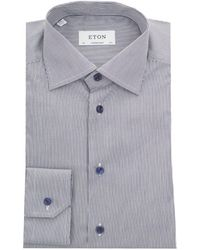 Eton of Sweden - York Twill Fine Striped Shirt - Lyst