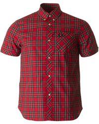Fred Perry - Short Sleeved Tartan Shirt - Lyst
