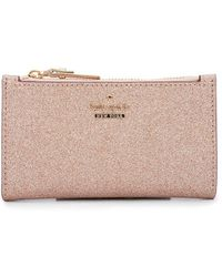 Kate Spade - Burgess Court Metallic Zip Coin Purse - Lyst