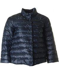 Armani Jeans - Lightweight Down Logo Puffa Jacket - Lyst