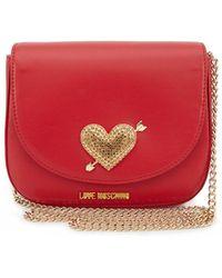 Moschino - Crystal Heart Crossbody Bag - Lyst