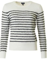 Armani - Striped Eyelash Knit - Lyst