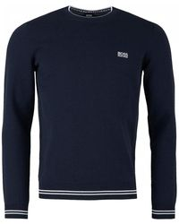 BOSS Athleisure - Rimex Crew Neck Cotton Knit - Lyst