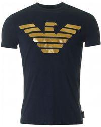 Armani - Metallic Eagle Logo Slim Fit - Lyst