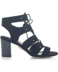 Moda In Pelle - Ghillie Style Heeled Gladitor Sandals - Lyst