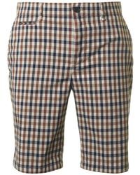 Aquascutum - Winster Club Check Shorts - Lyst
