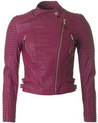 Forever Unique - Studded Faux Leather Jacket - Lyst