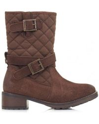 Barbour | Barnes Waxy Suede Canvas Boots | Lyst