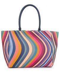 Paul Smith - Medium Leather Swirl Shopper Bag - Lyst