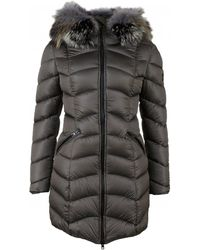 FROCCELLA - Long Length Quilted Fur Trim Coat - Lyst