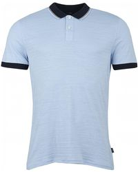 34828863 BOSS Slim-fit Polo Shirt In Mercerised Cotton: 'pitton 04' in Black ...