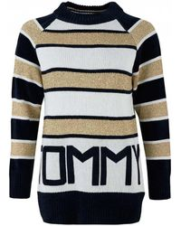 Tommy Hilfiger - Icon Tamarah Striped Logo Knit - Lyst