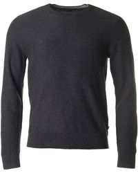 Michael Kors - Crew Neck Textured Cotton Mix Knit - Lyst