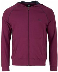 BOSS by Hugo Boss - Mix And Match Zip Up Hooded Jacket - Lyst