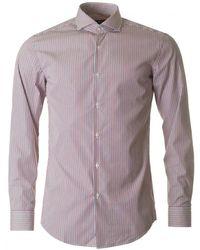 BOSS Black - Jason Slim Fit Twin Stripe Shirt - Lyst
