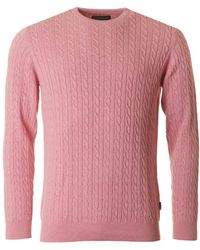 Barbour - Fowey Crew Neck Cable Jumper - Lyst