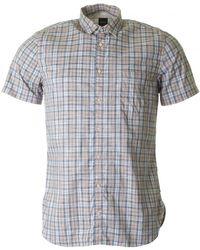 BOSS by Hugo Boss - Cattitude Short Sleeved Checked Shirt - Lyst