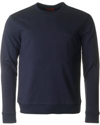 HUGO - Drick Crew Neck Sweat - Lyst