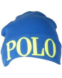 Polo Ralph Lauren - Large Polo Logo Cuff Beanie Hat - Lyst a6215bddfdc
