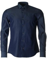 BOSS Black - Reid Chambray Slim Fit Shirt - Lyst