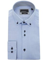 Remus Uomo - Button Down Contrast Placket Shirt - Lyst