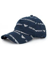 Armani Jeans - All Over Script Logo Cap - Lyst