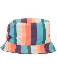 4b0e4477d29d1 Paul Smith - Reversible Multi Stripe Bucket Hat - Lyst