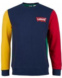 Levi's - Colour Block Housemark Crew Sweat - Lyst